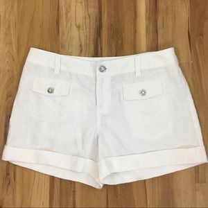 INC International Concepts cuffed linen shorts